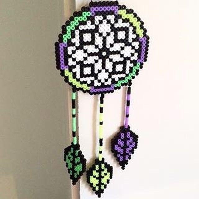 Dreamcatcher perler beads by perler_queen_