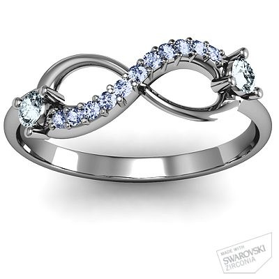 Double Stone Infinity Accent Ring.
