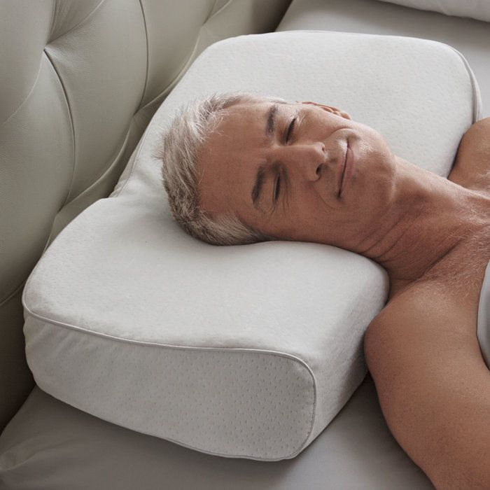 Anti-snore pillow for the BF.