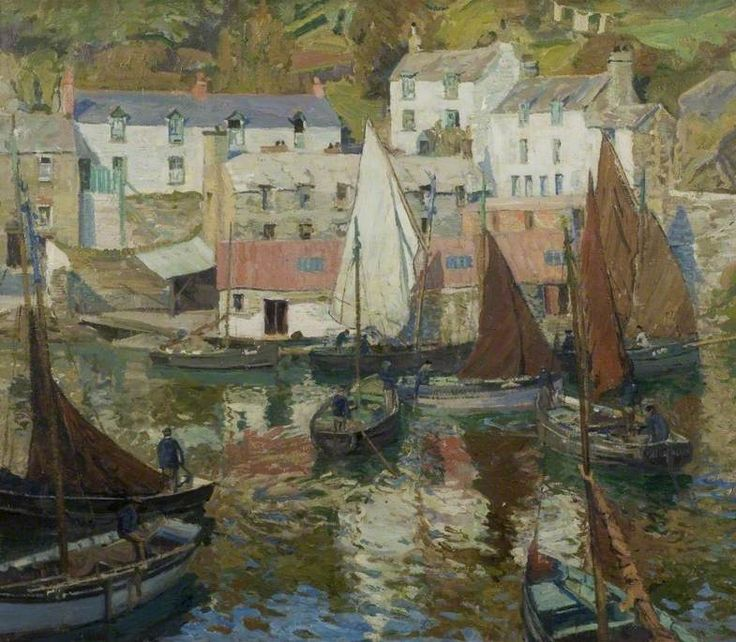 The Harbour, Polperro, Cornwall - John Anthony Park