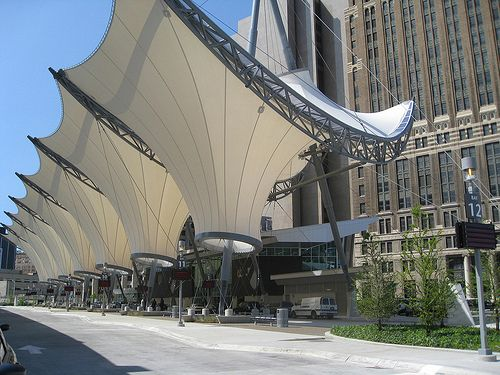 FabriTec Structures: Rosa Parks Transit Center by FabriTec Structures, via Flickr