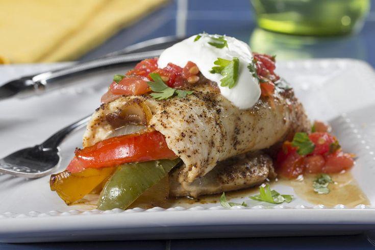 Chicken Fajita Roll-Ups   EverydayDiabeticRecipes.com