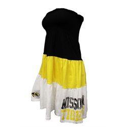 Missouri Tigers Tube Dress Color Block Tier Dress