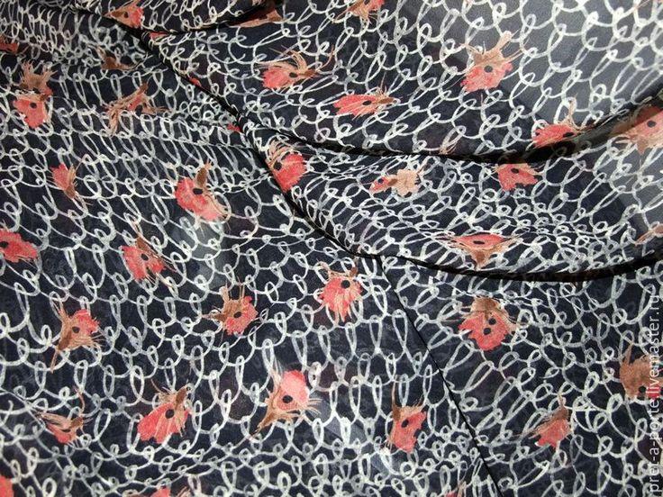 Купить Escada шелковый крепжоржет , Италия- 20% - итальянские ткани, итальянский стиль, итальянский шелк