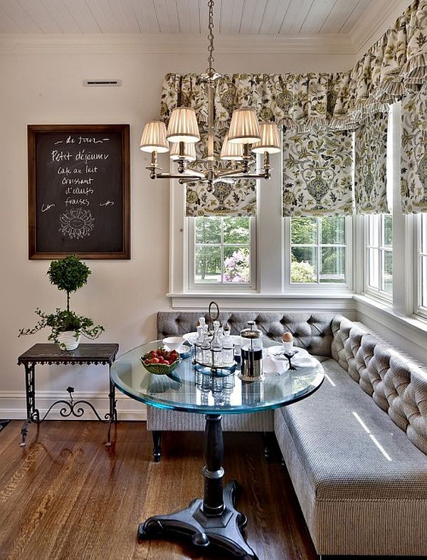 traditional kitchen breakfast nook - Decoist