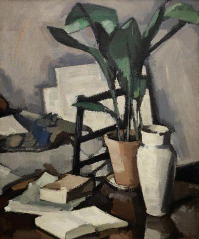 Samuel John Peploe RSA (British, 1871-1935) Aspidistra 76.2 x 63.4 cm. (30 x 25 in.) (Painted circa 1927)