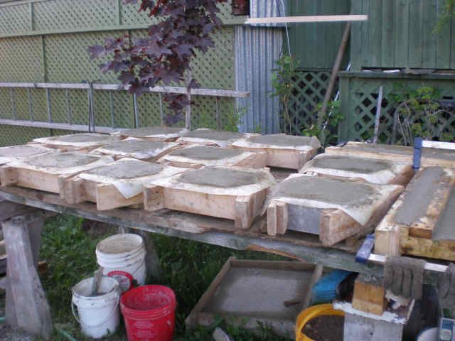 NEW RETAINING WALL BLOCK CONCRETE MOLD - Wet Castings Cement Form ...