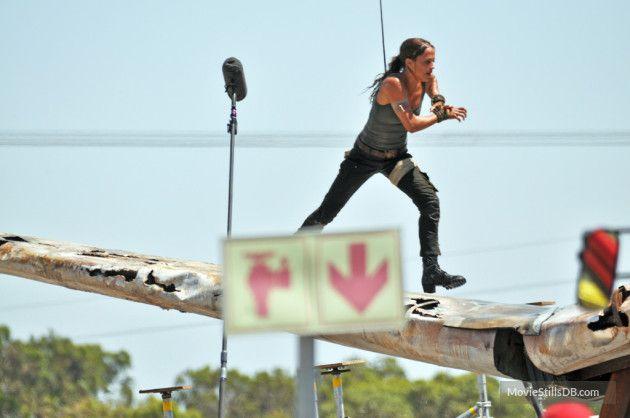 Tomb Raider - Behind the scenes photo of Alicia Vikander