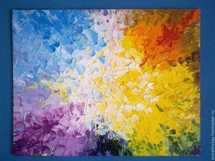 """Абстракция ручной работы. Ярмарка Мастеров - ручная работа Картина """"Настроение"""". Handmade."""