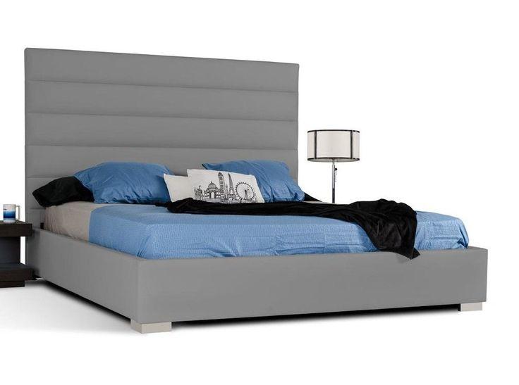 Modrest Kasia Leather Platform Bed