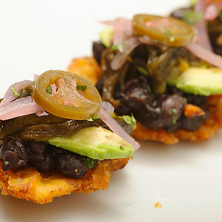 ... Black Beans, Roasted Poblanos, Avocado, and Pickled Red Onion Recipe