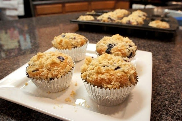Browned Butter Blueberry Muffins | food | Pinterest