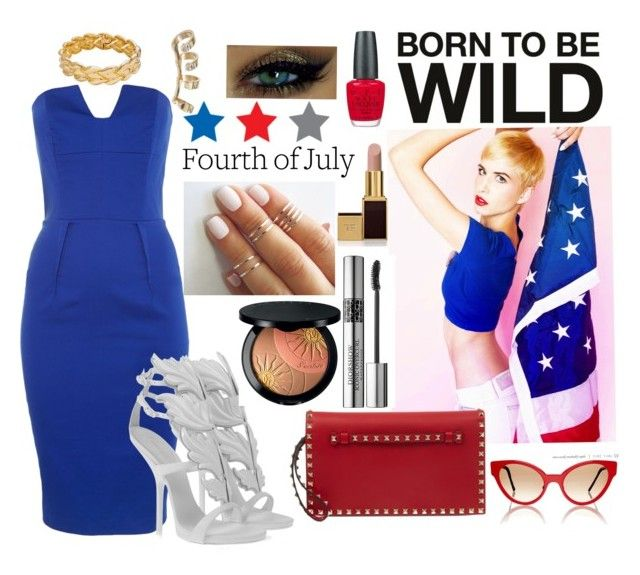 """""""4th Of July Party"""" by aseemxo ❤ liked on Polyvore featuring Aamaya by priyanka, Lipsy, Giuseppe Zanotti, Valentino, Occhi Verdi, OPI, Christian Dior, Tom Ford, Guerlain and Cutler and Gross"""