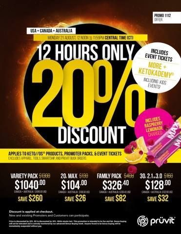 Keto OS 12 Hour Sale! http://ift.tt/2wibPtz  Keto OS is 20% for the next 12 hours! Get it while you can!  Discount Applied at Checkout! No Coupon Code Needed!  Not sure which version to pick? Check out my article -> Comparing each KETO version!  Pruvit Review of each product:  Looking to order Chocolate Swirl Orange Dream orKeto MaxHawaiian Punch? Click on the order button below!  Discount Applied at Checkout! No Coupon Code Needed!  referrer code: skinnydrink (all one word)  Is Keto/os…