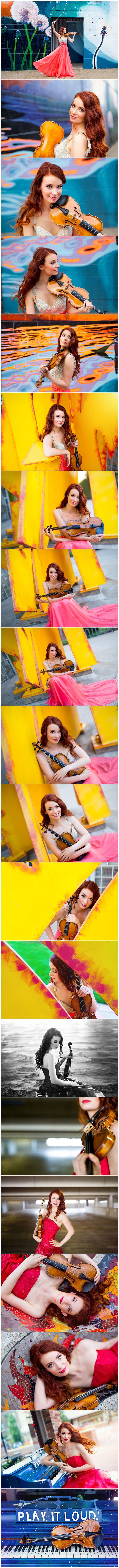 Chloé Trevor's violinist headshots, photographed by Boston headshot photographer Kate Lemmon. // www.kateLphotography.com