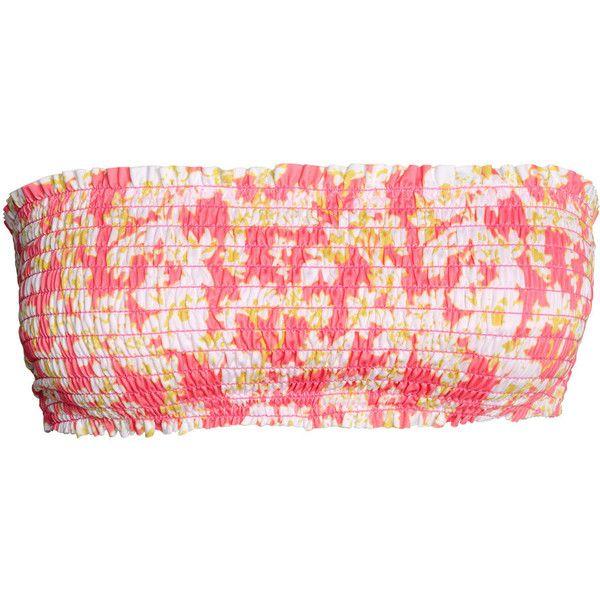 Bandeau Bikini Top $17.99 (25 AUD) ❤ liked on Polyvore featuring swimwear, bikinis, bikini tops, print swimwear, pink swimwear, pink bikini, print bikini and pink bandeau bikini top