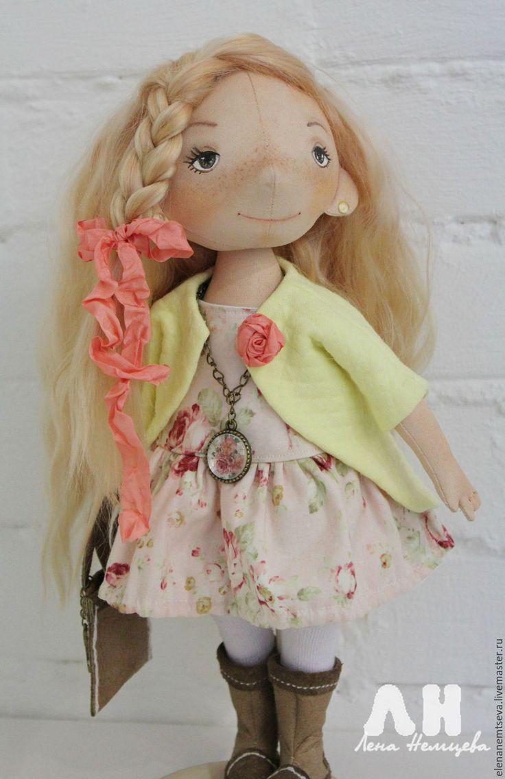 Купить Оляша - комбинированный, кукла в подарок, интерьерная кукла, коллекционная кукла, текстильная кукла
