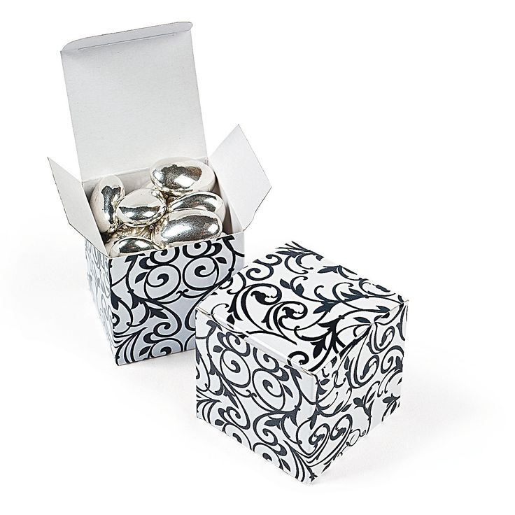 Black & White Gift Boxes - OrientalTrading.com IN-3/7438   $3.00 for 24 pcs.