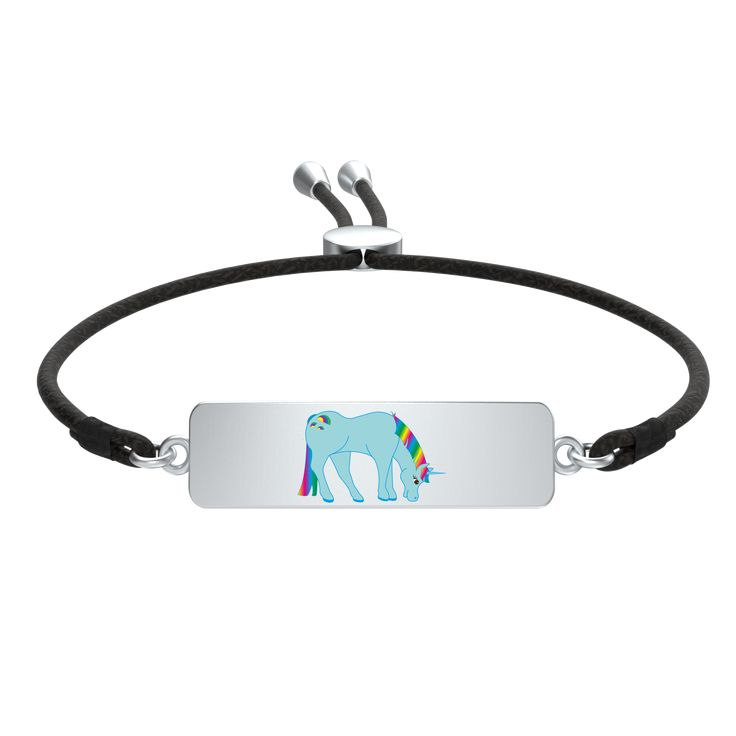 Gorgeous Blue Rainbow Unicorn Tag Bracelet Order Here https://goo.gl/824bdt  #cute #style #jewellery #bride #silver #beautifulgift #925sterling #beads #fashionaddict #Muranoglassbeads