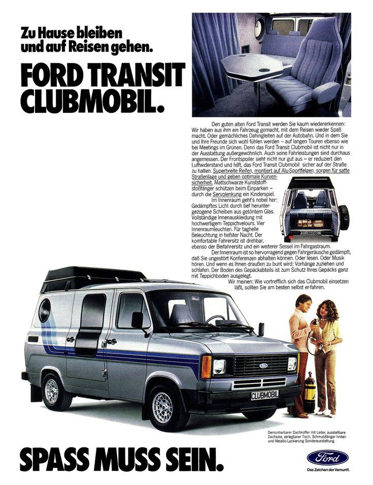 Ford Transit Clubmobil Ford Transit Pinterest Ford Transit