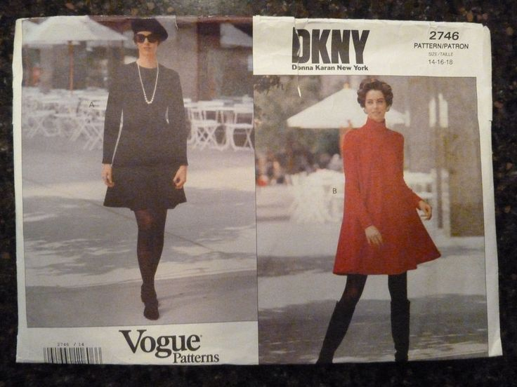 Vogue 2746 Donna Karan American Designer Original 1991 Pattern 14/16/18 Uncut   | Crafts, Sewing, Sewing Patterns | eBay!