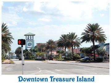 Downtown Treasure Island, Florida.