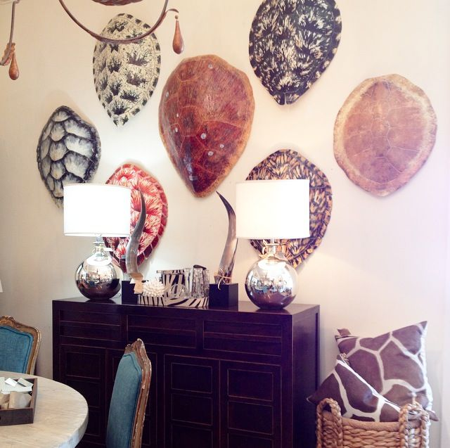 Tortoise #shells and #metallic #lamps at  #Mecox #PalmBeach #interiordesign #MecoxGardens #furniture #shopping #home #decor #design #room #designidea #vintage #antiques #garden