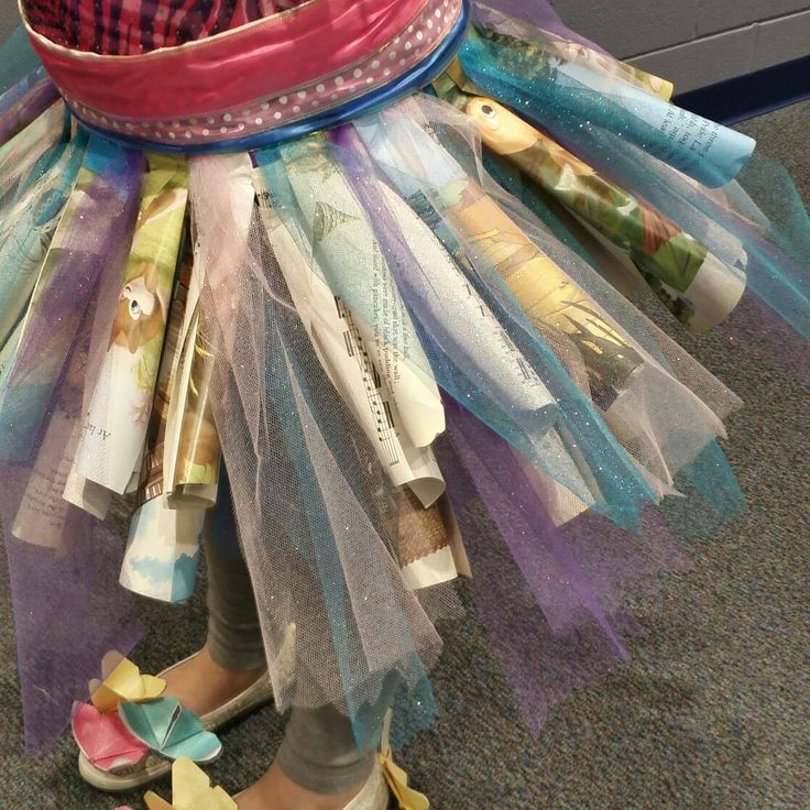 Tutu made from pages of children's books found at Goodwill and Salvation Army for 'Book Fairy' costume:)