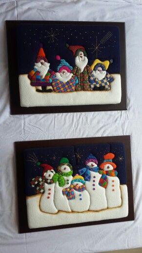 Cuadros navide os variados dise os divertidos y modernos for Disenos navidenos para decorar puertas