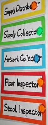 This is a great art room job list, however the last job listed would be a literal one in my art room. I really have had students go #2 on the floor before.