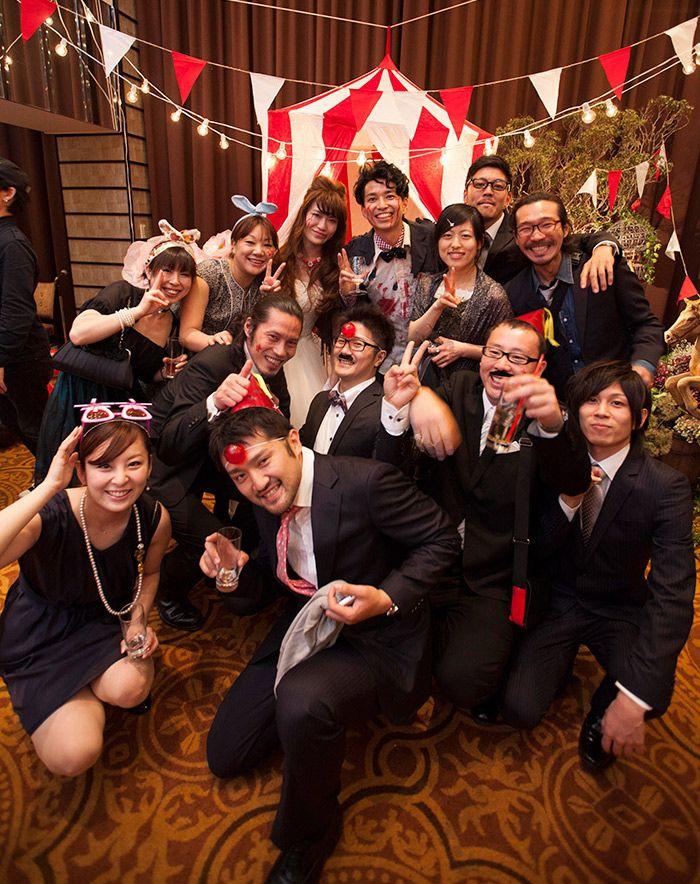 ゲスト / Guest /特殊メイク/ 仮装 /  crazy wedding / ウェディング / 結婚式 / オリジナルウェディング/ オーダーメイド結婚式/ サーカス / circus