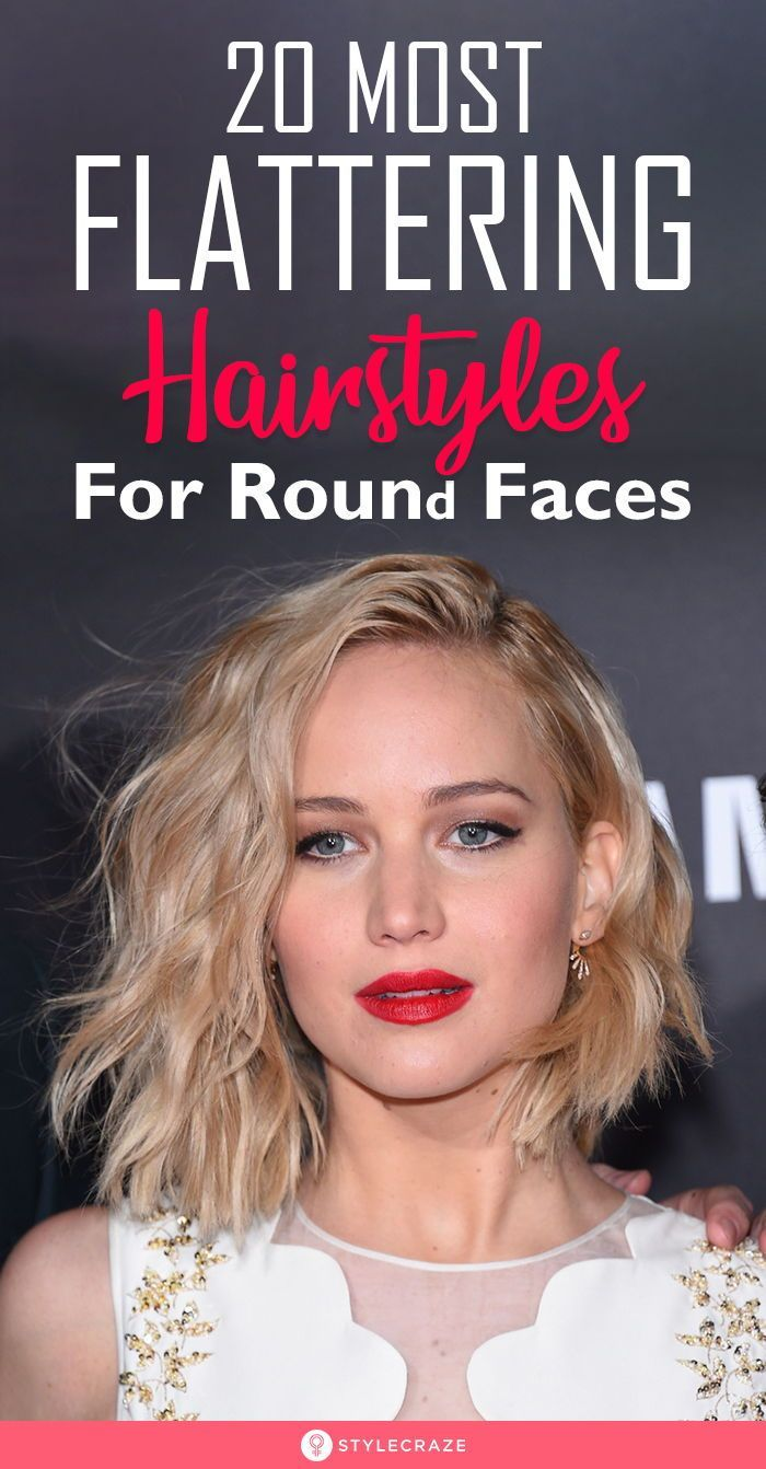 20 Most Flattering Hairstyles For Round Faces Hair For Round Face Shape Round Face Haircuts Hairstyles For Round Faces