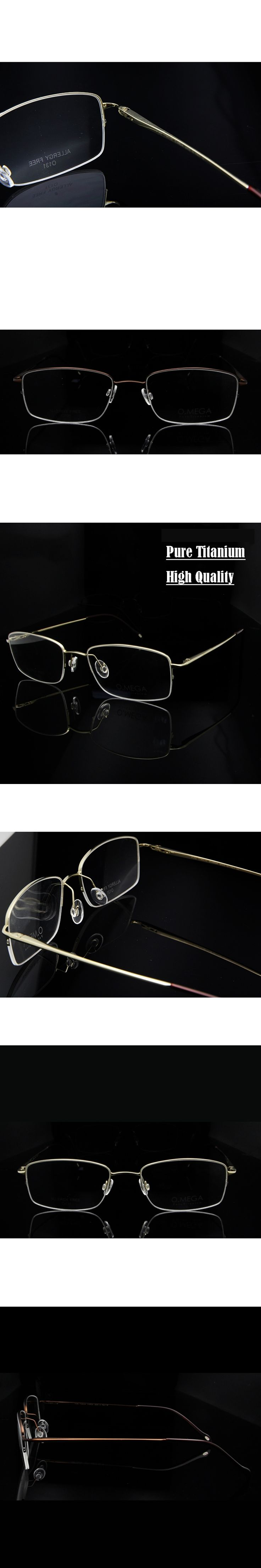 Pure Titanium Eyeglass Frames Men High Quality Half Frame Glasses Men's Prescription Eyewear Clear Lens Glasses