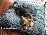 Square Elephant Mandala Floor Pillow Indian Cushion Cover Floor Pillow Sham Ottoman Floor Pouf Oversized Sofa Large Dog Bed 35X35