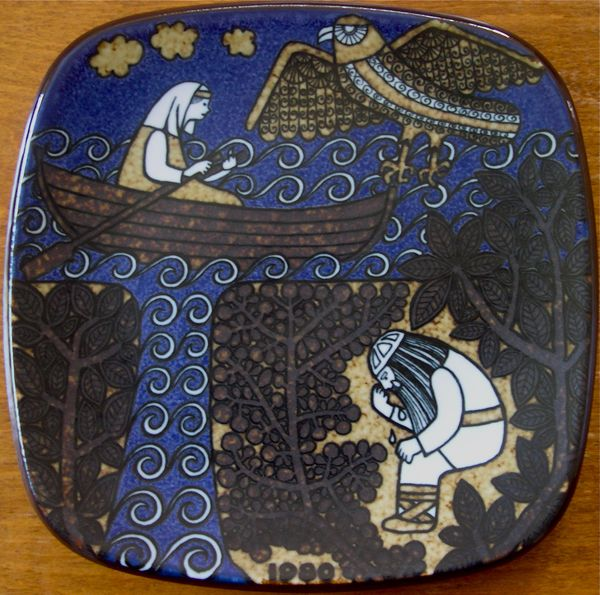 plates that are based on the Finnish 19th century Kealevala folklore and mythology poetry. Finland