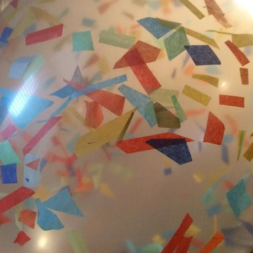 Some custom confetti balloons to get the party started! Party decor by Paper Street Dolls