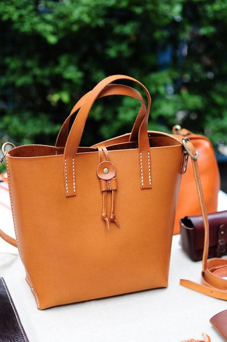 Hand Stitched Leather Shoulder Bag/Carry On Bag by ArtemisLeatherware