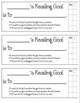 Here is a great way to organize individual reading goals for your students. This goal sheet has a build in rubric for the teacher or student to use to track progress. It can be used during Cafe' conferencing, guided reading groups, or after administering a running record.
