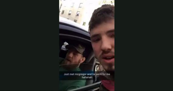 WATCH: Conor McGregor Swipes at Phone as Fan Records Encounter #news #alternativenews