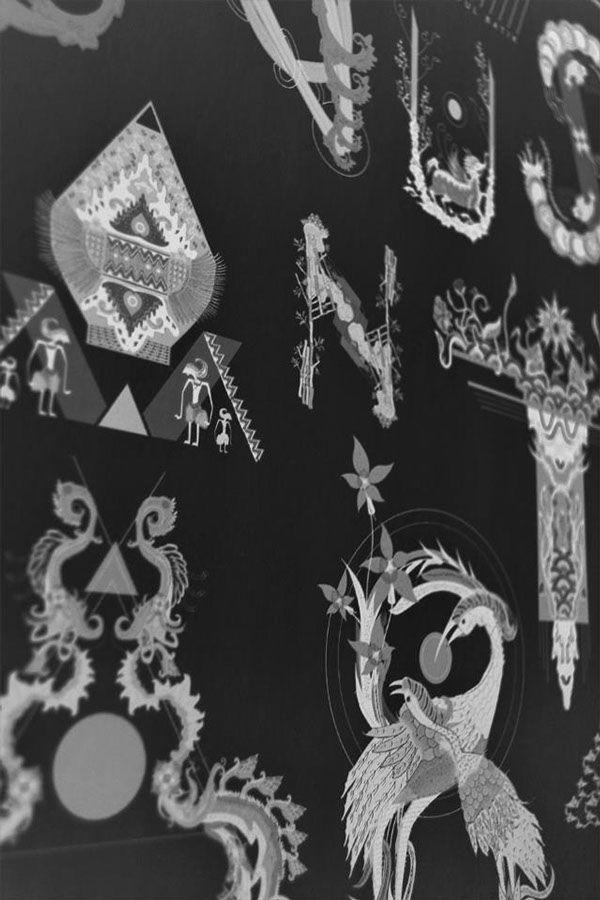 Indonesian Batik Alphabet