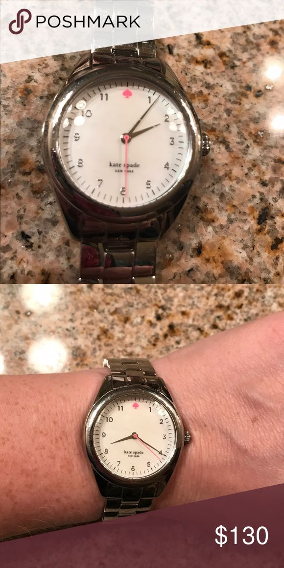 Kate Spade silver watch Great condition, with a new battery placed on January 5th! Purchased in a Nordstrom store. Happy to send additional pics, just ask! kate spade Accessories Watches