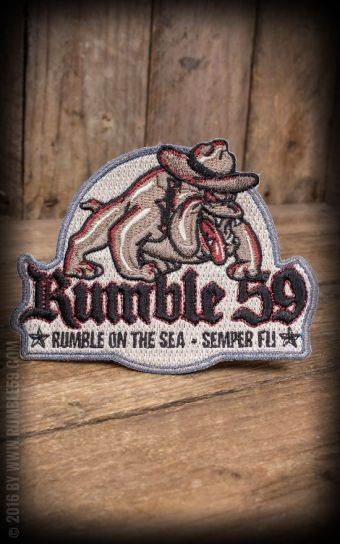 Rumble59 - Aufnäher On the sea - Semper fi #semperfi #bulldog #patch