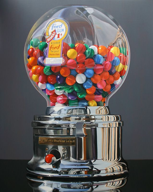 "Daryl Gortner, Worth a Pretty Penny, 2012, oil on canvas, 60"" x 48"". Skidmore Contemporary Art"