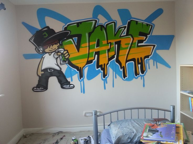 Charming Half Graffiti Bedroom. Graffiti Bedroom Decoration On The Wall Children Teen Kids Bedroom
