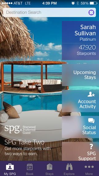 Starwood Hotels + iOS7