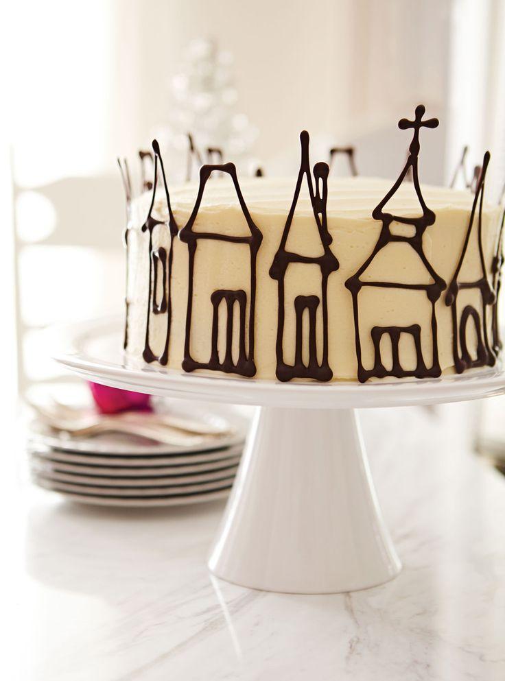 Gâteau aux épices et au chocolat. (IDEAS PARA DECORAR CON CHOCOLATE)