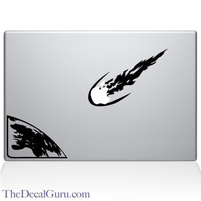 Meteor for earth macbook decal sticker