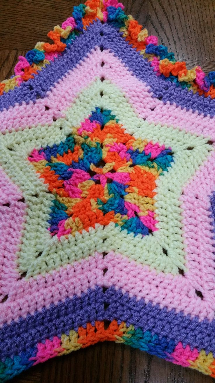 32 best best crochet baby afghan patterns images on pinterest crochet ruffle star baby afghan pattern bankloansurffo Image collections