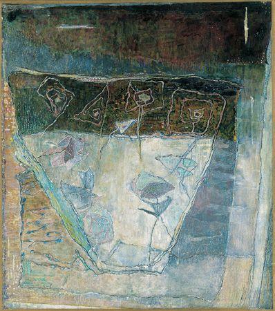 Kupolás rózsakert, 1970-72, olaj, vászon, 54 x 47 cm, Magyar Nemzeti Galéria