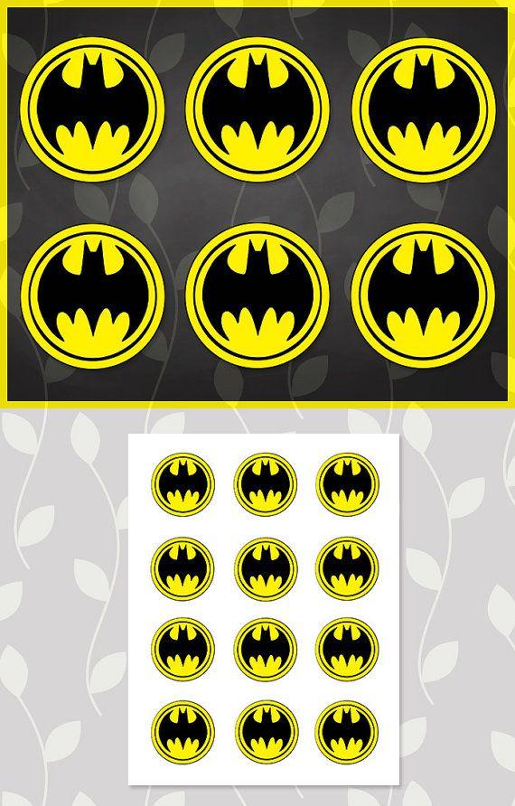 Batman Sticker // Batman Cupcake Topper // by ApothecaryTables